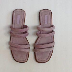 Topshop Tube String Slip On Purple Sandal